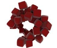 3D czerwoni abstrakcjonistyczni sześciany Zdjęcia Stock
