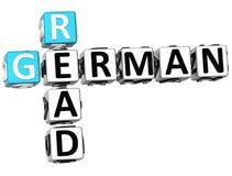 3D Czyta Niemieckiego Crossword Zdjęcia Stock