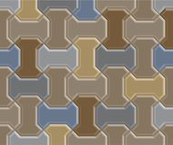3D dżdżownicy cegły bruk Obraz Stock