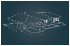3D da casa Fotografia de Stock Royalty Free