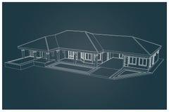 3D da casa Fotos de Stock