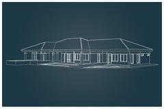 3D da casa Foto de Stock