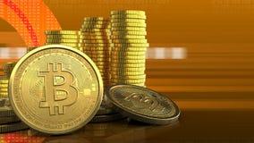 3d da pilha das moedas Imagens de Stock
