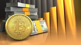 3d da pilha do dinheiro Imagem de Stock