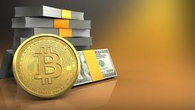 3d da pilha do dinheiro Fotos de Stock