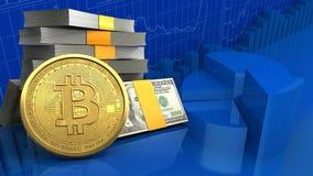 3d da pilha do dinheiro Foto de Stock