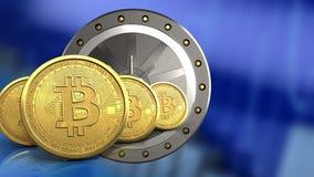 3d da porta do valut Foto de Stock Royalty Free