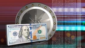 3d da porta do valut Imagem de Stock