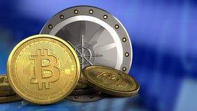 3d da porta do valut Imagens de Stock Royalty Free