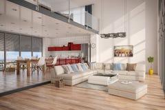 3d - Dachboden Lizenzfreies Stockbild
