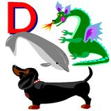 D dachshund dragon dolphin Stock Photography