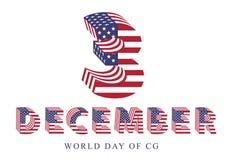 3d dag van de kunstenaarswereld 3 december vieringspret Stock Foto