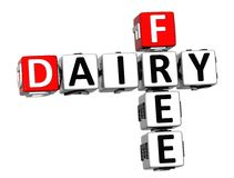 3D Dairy Free Crossword cube words. On white background Royalty Free Stock Image