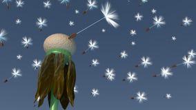 3d Dandelion - Ostatni jeden Obrazy Royalty Free