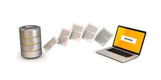 3d dane odpłacają się transfer technologii Fotografia Royalty Free