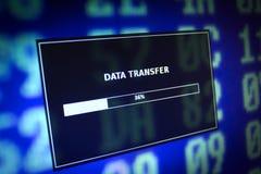 3d dane odpłacają się transfer technologii Obraz Stock
