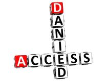 3D Danied Access Crossword. On white background Stock Photos