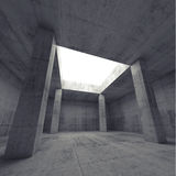3d dark concrete room interior with columns Stock Photos
