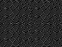 3D dark paper art Diamond Check Cross Rhomb Geometry. Vector stylish decoration pattern background for web banner greeting card design Royalty Free Stock Images