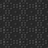 3D dark paper art Geometry Brick Cross Check. Vector stylish decoration pattern background for web banner greeting card design Royalty Free Stock Photography