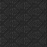 3D dark paper art Geometry Polygon Cross Stitch Line Frame. Vector stylish decoration pattern background for web banner greeting card design Royalty Free Stock Photography