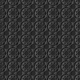 3D dark paper art Islamic geometry cross pattern seamless backgr. Ound, Vector stylish decoration pattern background for web banner greeting card design Royalty Free Stock Images