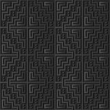 3D dark paper art Mosaic Pixel Square Geometry Cross Frame. Vector stylish decoration pattern background for web banner greeting card design Royalty Free Stock Image