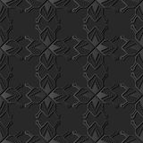3D dark paper art Polygon Star Geometry Cross Dot Frame Line. Vector stylish decoration pattern background for web banner greeting card design Royalty Free Stock Photo