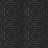 3D dark paper art Spiral Curve Cross Frame Flower Lace. Vector stylish decoration pattern background for web banner greeting card design royalty free illustration
