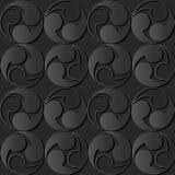 3D dark paper art Spiral Round Vortex Geometry. Vector stylish decoration pattern background for web banner greeting card design Royalty Free Stock Image