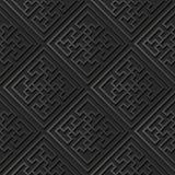 3D dark paper art Spiral Vortex Cross Geometry Frame. Vector stylish decoration pattern background for web banner greeting card design Stock Photos