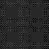 3D dark paper art Stitch Cross Geometry Mosaic Check Line. Vector stylish decoration pattern background for web banner greeting card design Stock Image