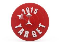 3d dartboard 2015 concept Royalty Free Stock Photos