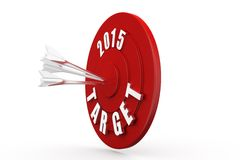 3d dartboard 2015 concept Stock Photography