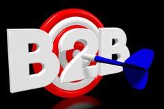 3D dartboard pojęcie - ` B2B ` Obrazy Royalty Free