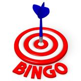 3D dartboard pojęcie - ` bingo ` Zdjęcie Stock