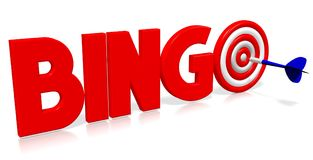 3D darts illustration - bingo vector illustration