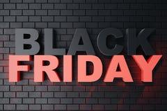 3D, das Black Friday, Verkaufsmitteilung für Shop überträgt Geschäftshopfen-Speicherfahne für Black Friday Schwarzer Freitag-Verk Stockfotografie
