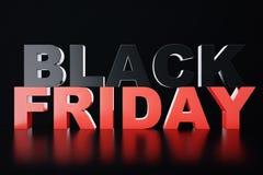 3D, das Black Friday, Verkaufsmitteilung für Shop überträgt Geschäftshopfen-Speicherfahne für Black Friday Schwarzer Freitag-Verk Stockfoto