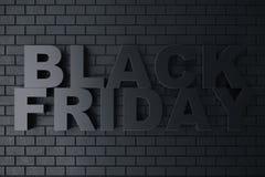 3D, das Black Friday, Verkaufsmitteilung für Shop überträgt Geschäftshopfen-Speicherfahne für Black Friday Schwarzer Freitag-Verk Lizenzfreies Stockfoto
