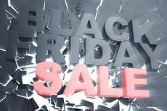 3D, das Black Friday, Verkaufsmitteilung für Shop überträgt Geschäftshopfen-Speicherfahne für Black Friday Black Friday-Zerquetsc Stockfoto