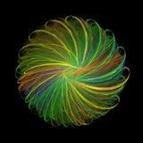 3D, das bunte Fractalzusammenfassung im schwarzen Hintergrund überträgt lizenzfreie abbildung