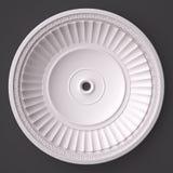 3d, das den schönen weißen Gips schnitzt Dekoration der Architektur überträgt klassisches Innendetail gemacht vom Gips stockfoto