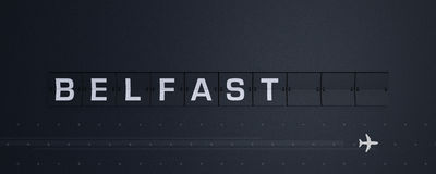 3D, das Flip Board Capital Belfast überträgt stock abbildung