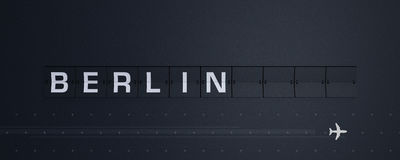 3D, das Flip Board Capital Berlin überträgt Lizenzfreies Stockfoto