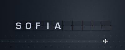 3D, das Flip Board Capital Sofia überträgt vektor abbildung