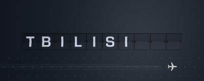 3D, das Flip Board Capital Tiflis überträgt Lizenzfreie Stockfotos