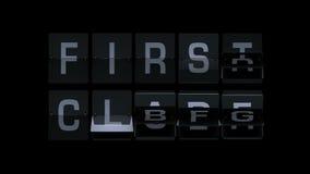 3D, das Flipboard-Flughafen-Ausdrücke überträgt stock video