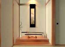 3D, das japanische Dekoration überträgt vektor abbildung