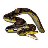 3D, das retikulierte Pythonschlange auf Weiß überträgt stock abbildung